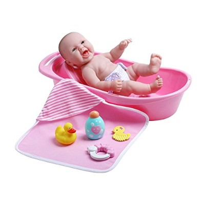 ジェーシートイズ 赤ちゃん おままごと ベビー人形 18370 JC Toys La Newborn Realistic Baby Doll Bathtub Gift Set Featuring...