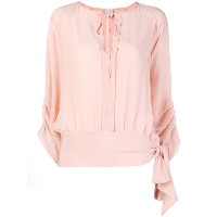 Pinko side bow fastening blouse - ピンク&パープル