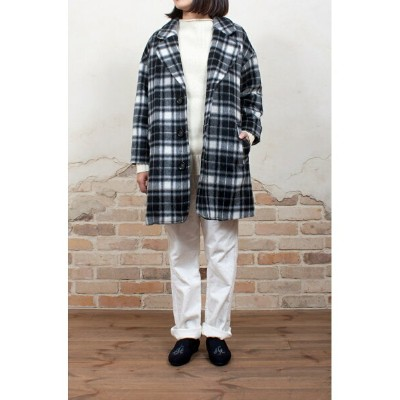 【SALE/60%OFF】bisque by nest Robe bisque シャギーチェックコート ネスト ローブ クローゼット コート/ジャケット【RBA_S】【RBA_E】【送料無料】