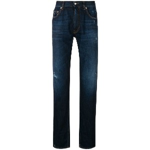 Love Moschino washed high-cuff jeans - ブルー