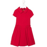 Emporio Armani Kids pleated ruched detail dress - レッド