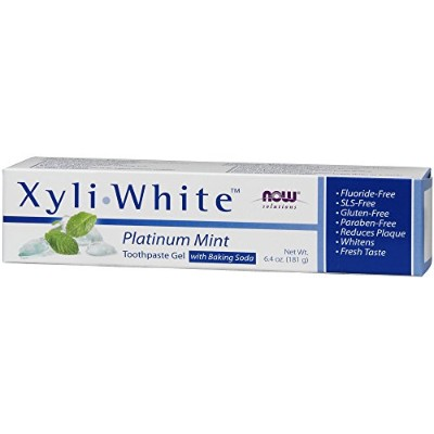 海外直送品 Now Foods Xyliwhite Platinum Mint with Baking Soda Toothpaste, 6.4 Oz