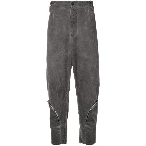 Lost & Found Rooms drop-crotch cropped trousers - グレー