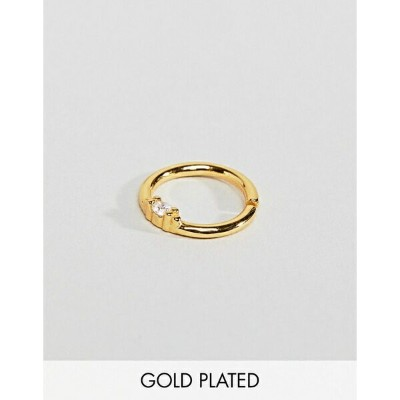 リーガルローズ レディース ワンピース トップス Regal Rose Sterling Silver 18K Gold Plated Septum Piercing Mini Hoop Gold