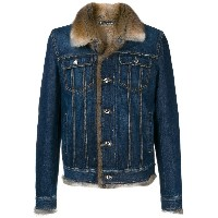 Dolce & Gabbana fur lined denim jacket - ブルー