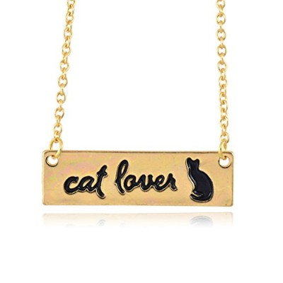 In Your Dreams Cat Loverネックレス、上品シルバーメッキペットペンダント