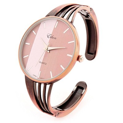 FTW銅文字列スタイルBand Large Dial Luxury Women 's Bangle Cuff Watch