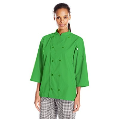 Uncommon Threads 0975-5405 Epic 3/4 Sleeve Chef Shirt in Lime - XLarge