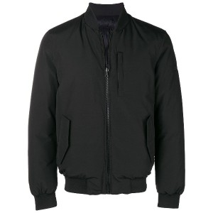 Woolrich classic zipped bomber jacket - ブラック