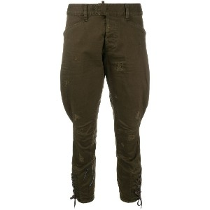 Dsquared2 cropped trousers - グリーン
