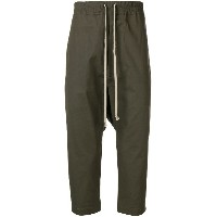 Rick Owens drawstring cropped trousers - グレー