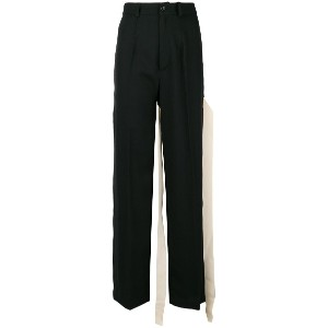 Seen bow detail trousers - ブラック