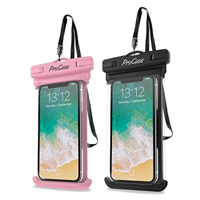 ProCase 防水ケース 防水ポーチ ドライバッグ 指紋認証対応 携帯防水ケース iPhone X 8/7/7 Plus/6S/6/6S Plus Samsung Galaxy S9/S8...