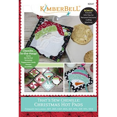 Kimberbell that 's Sew Chenilleクリスマスホットパッドマシン刺繍CD kd547