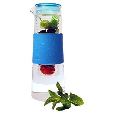 salubre Fruit and Tea Infusion Pitcher、32オンスガラスボトルBPAフリー、茶漉–Best Flavor注入水with Free Infusionレシピ電子ブ...