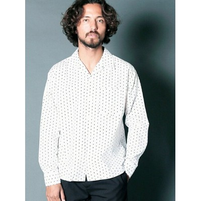【SALE/40%OFF】Magine CTN BROAD DOT PRINT OPEN COLLAR SHIRTS L/S マージン シャツ/ブラウス【RBA_S】【RBA_E】【送料無料】