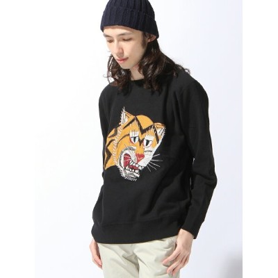 ALDIES 【M】Tiger Embroidery Trainer アールディーズ カットソー【送料無料】