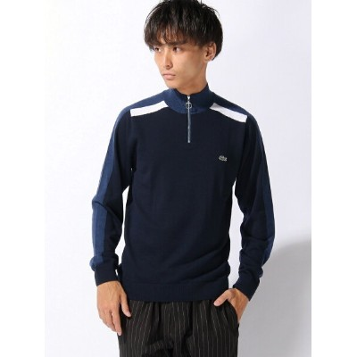 【SALE/40%OFF】LACOSTE (M)『Made in France』ジッパーネック セーター ラコステ ニット【RBA_S】【RBA_E】【送料無料】
