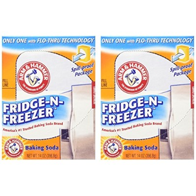 Arm & Hammer Baking Soda, Fridge-N-Freezer Pack, Odor Absorber, 14 oz - 2 Pack by Arm & Hammer