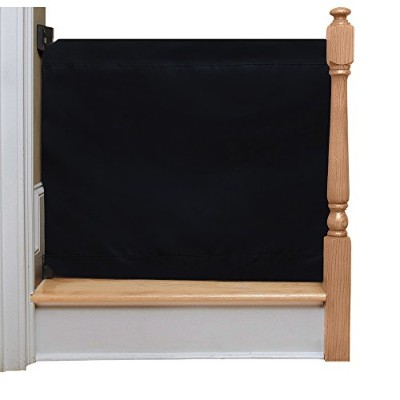 The Stair Barrier - Wall-to-Bannister Indoor/Outdoor Baby/Pet Gate - Black by The Stair Barrier