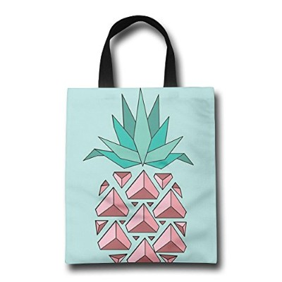 GJOHKRT Shopping Handle Bags -Pink Pineapple Personalized Tote Bag