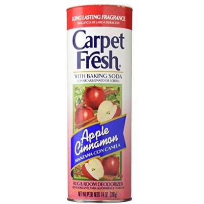 Carpet Fresh 277119 Rug and Room Deodorizer with Baking Soda, 14 oz. Apple Cinnamon Fragrance by...
