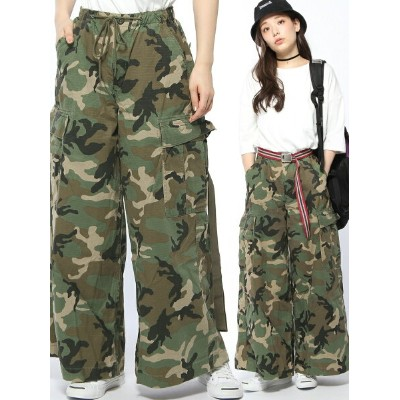 [Rakuten BRAND AVENUE]【SALE/40%OFF】MILITARY WIDE LEG PANTS X-girl エックスガール パンツ/ジーンズ【RBA_S】【RBA_E】...