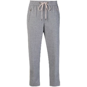 Peserico cropped track trousers - グレー