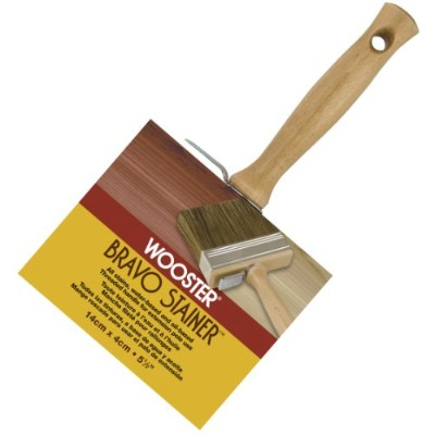 Wooster Brush F5119-5 1/2 Bravo Stainer Bristle/Polyester Stain Brush, 5-1/2 Inch by Wooster Brush