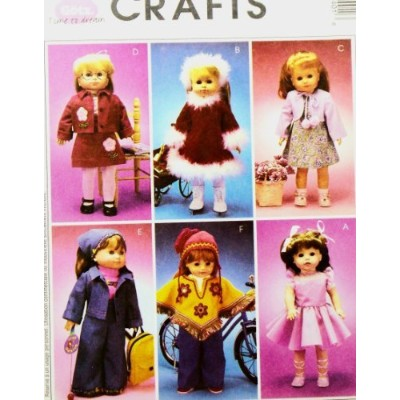 "OOP McCall's Pattern 3040. Clothes for 18"" Dolls Such As the American Girl Doll. Gotz Designs. by..."