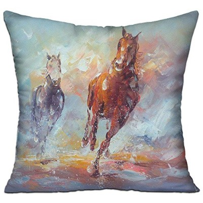 GRUNVGT Cushion Cover Pillow Cover Modern Abstract Horse Decorative Customized Pillow Case Sofa...