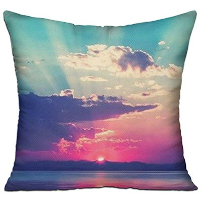 GRUNVGT Cushion Cover Pillow Cover Colorful Clouds Decorative Customized Pillow Case Sofa Seat Car...