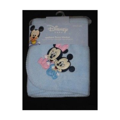 Disney Babies Mickey Mouse & Minnie Mouse Fleece Blanket by Crown Crafts