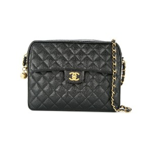 Chanel Vintage flap quilted chain bag - ブラック