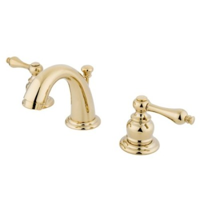 Kingston Brass KB912AL Two Handle 4 in. to 8 in. Mini Widespread Lavatory Faucet with Retail Pop-up