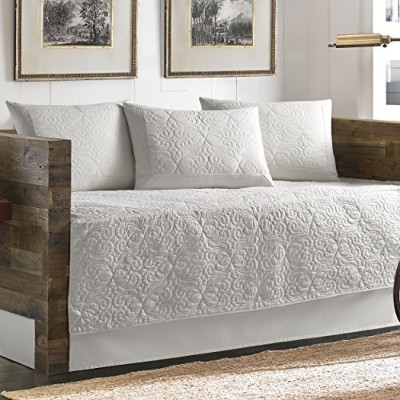 Tommy Bahama 5 Piece Quilted Daybed Cover Set, White by Tommy Bahama