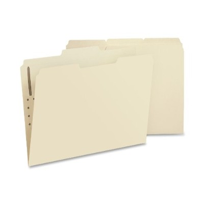 Folders, One Fastener, 1/3 Cut Assorted, Top Tab, Letter, Manila, 50/Box (並行輸入品)