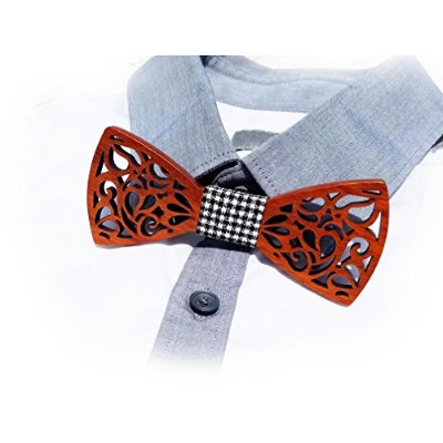 Men 's Wooden Bow Tie by Alexander IV。一意Boss Gift – Great Collectible