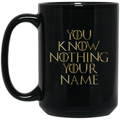 Personalized Game of Thronesコーヒーマグ|カスタムテキストPersonalization Game of Thrones You Know Nothingマグ|...