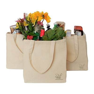 Eco-Friendly, Reusable, Sustainable Natural Canvas Tote by Canvas Bags