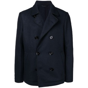 Dondup double-breasted fitted coat - ブルー