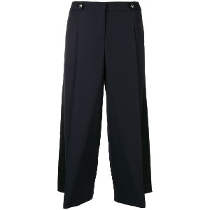 Alexander McQueen high-waisted palazzo trousers - ブルー
