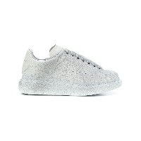 Alexander McQueen glitter lace-up sneakers - グレー