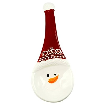 Jolly Snowman Decorative Holiday Spoon Rest