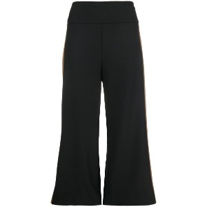 Phisique Du Role side stripe cropped trousers - ブラック