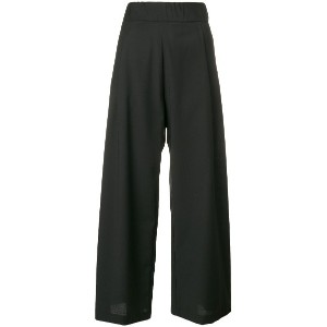 Semicouture wide leg trousers - ブラック