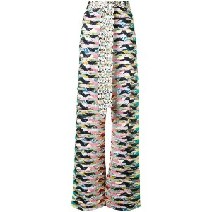 Missoni geometric knitted trousers - イエロー&オレンジ