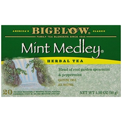 Bigelow Mint Medley Herbal Tea, 20-Count Boxes (Pack of 6) by Bigelow Tea