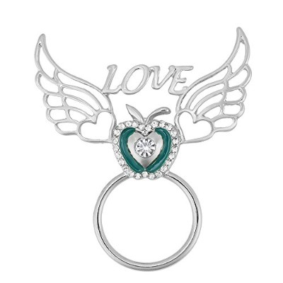 Guandu 3色クリスタルApple Love Heart Angel Wings磁気Eyeglass Holder for Femaleクリスマスギフト