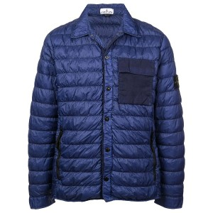 Stone Island zipped padded jacket - ブルー